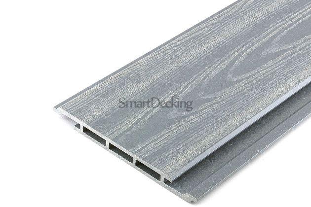 Фасадная доска из ДПК Smart серый