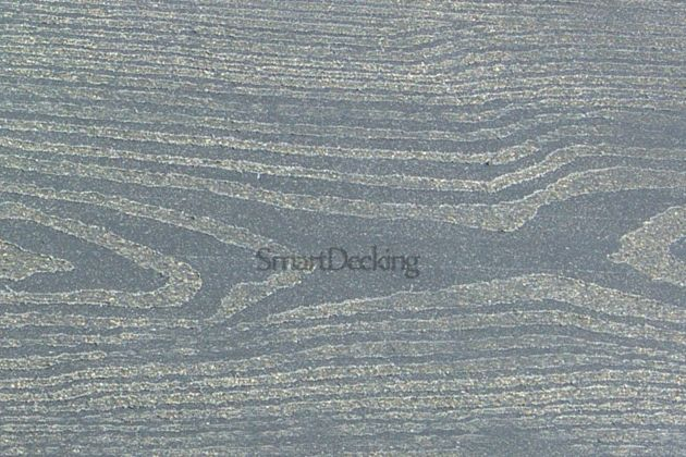 Заборная доска из ДПК Smart вельвет/тиснение серый