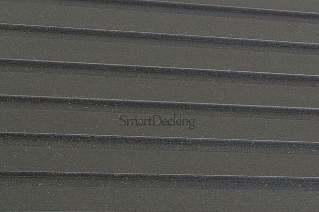 Заборная доска из ДПК Smart вельвет/тиснение антрацит